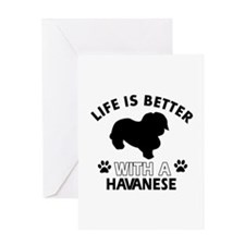 Funny Havanese lover designs Greeting Card