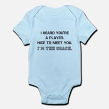 Player Meet Coach Infant Bodysuit
