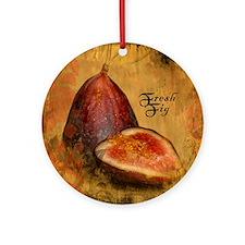 Botanical Fresh Fig Ornament (Round)