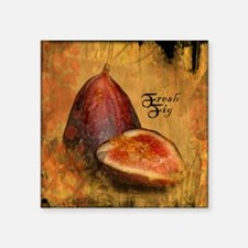 "Botanical Fresh Fig Square Sticker 3"" x 3"""