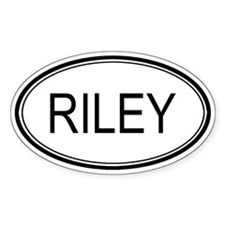 Riley Oval Design Oval Decal
