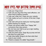 Cats Are Better Than Dogs Tile Coaster