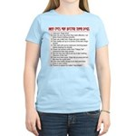 Cats Are Better Than Dogs Women's Pink T-Shirt