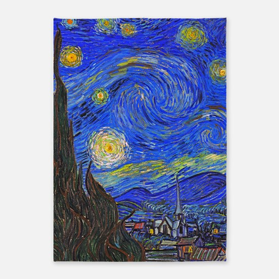 van Gogh: The Starry Night 5'x7'Area Rug