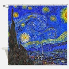 van Gogh: The Starry Night Shower Curtain