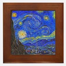 van Gogh: The Starry Night Framed Tile