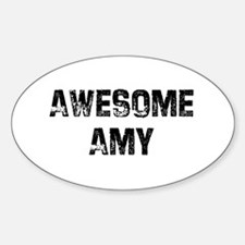 Awesome Amy Oval Decal