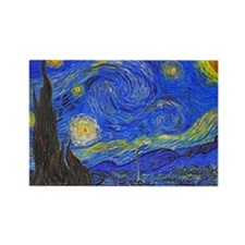 van Gogh: The Starry Night Rectangle Magnet