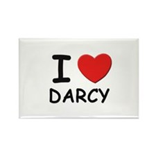 I love Darcy Rectangle Magnet