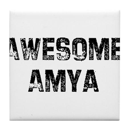 Awesome Amya Tile Coaster