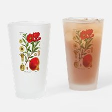 Vintage Pomegranate Drinking Glass