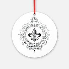 Vintage French Fleur de lis Ornament (Round)