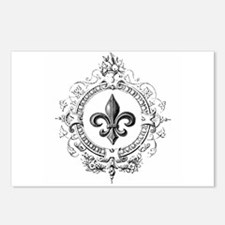 Vintage French Fleur de lis Postcards (Package of