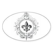 Vintage French Fleur de lis Decal