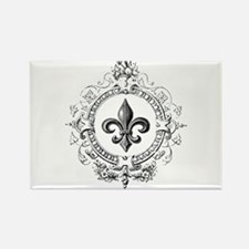 Vintage French Fleur de lis Rectangle Magnet