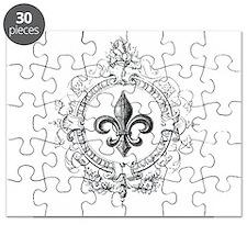 Vintage French Fleur de lis Puzzle