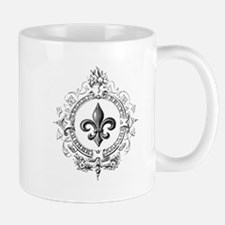 Vintage French Fleur de lis Mug