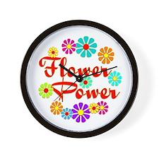 Flower Power Fun Wall Clock