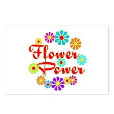 Flower Power Fun Postcards (Package of 8)