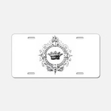 Vintage French crown Aluminum License Plate