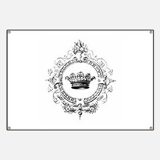 Vintage French crown Banner