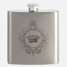 Vintage French crown Flask