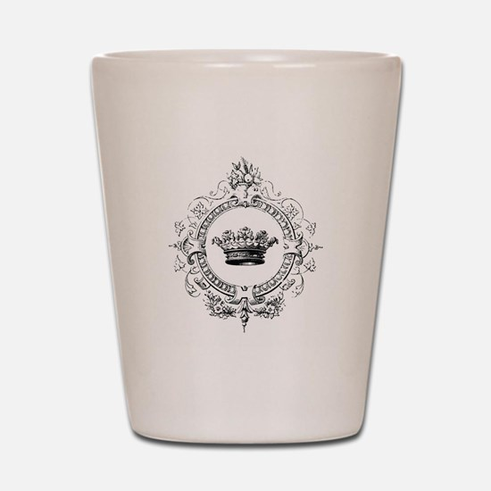 Vintage French crown Shot Glass