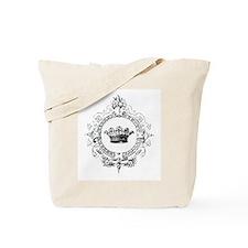 Vintage French crown Tote Bag
