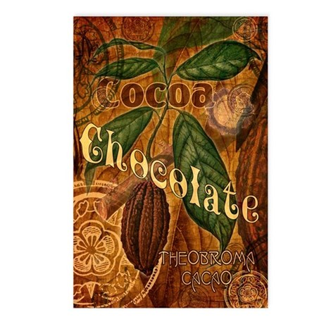 Chocolate Collage Postcards (Package of 8)