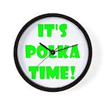 Polka Time Wall Clock