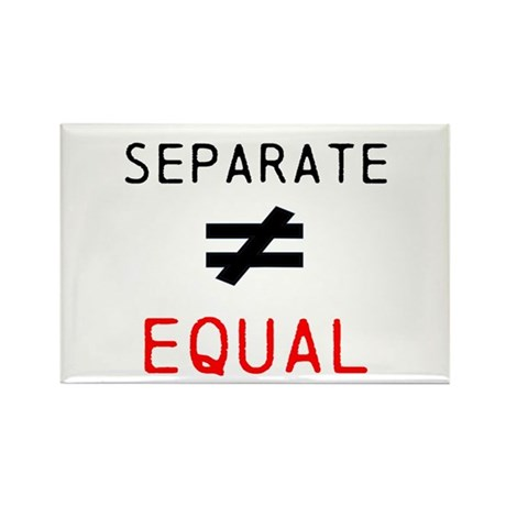 Separate is not Equal Rectangle Magnet (100 pack)