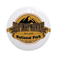 great smokey mountains 4 Ornament (Round)