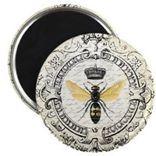 """Vintage French Queen Bee 2.25"""" Magnet (10 pack)"""