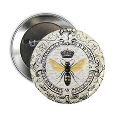 """Vintage French Queen Bee 2.25"""" Button (10 pack)"""