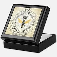 Vintage French Queen Bee Keepsake Box
