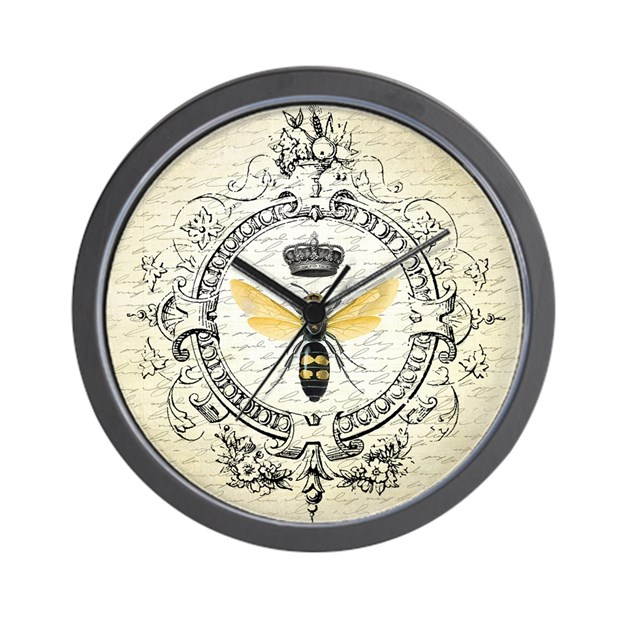 Vintage french queen bee wall clock by designsbyheathermyers1 - Mondaine wall clock cm ...