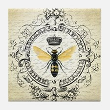 Vintage French Queen Bee Tile Coaster