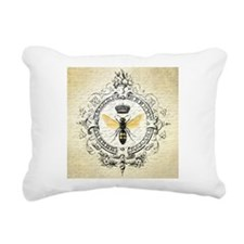 Vintage French Queen Bee Rectangular Canvas Pillow