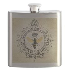 Vintage French Queen Bee Flask