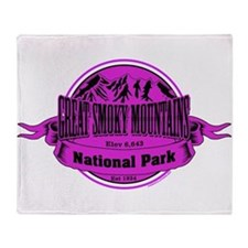 great smokey mountains 1 Throw Blanket