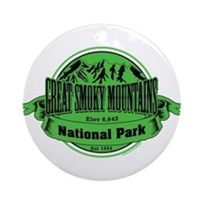 great smokey mountains 1 Ornament (Round)