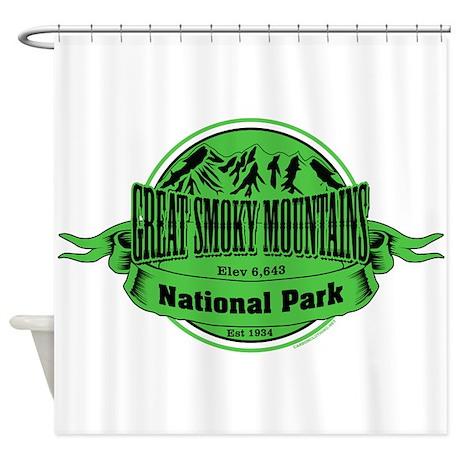 great smokey mountains 1 shower curtain