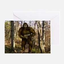 Bigfoot forest Greeting Card