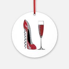 Glitter Red Corkscrew Stiletto and Champagne glas