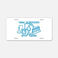Personalized Mad Scientist Aluminum License Plate