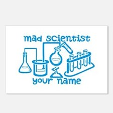 Personalized Mad Scientist Postcards (Package of 8