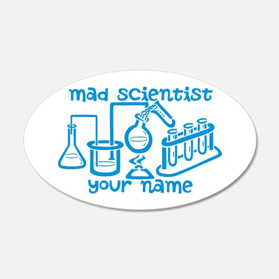 Personalized Mad Scientist Wall Decal