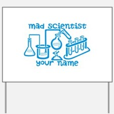 Personalized Mad Scientist Yard Sign