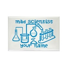 Personalized Mad Scientist Rectangle Magnet (10 pa