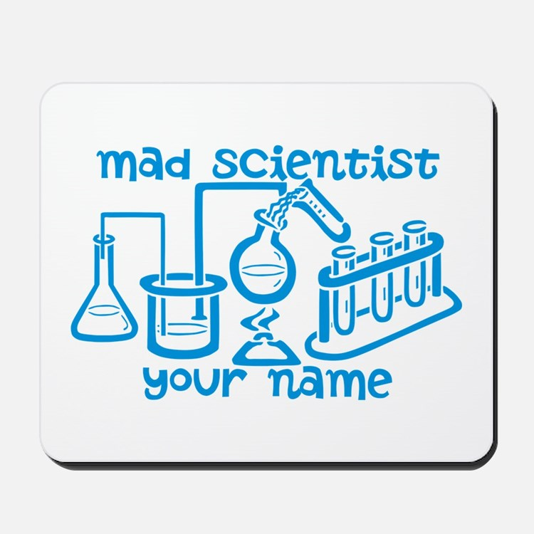 Personalized Mad Scientist Mousepad